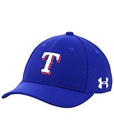 Under Armour Boys' Texas Rangers Adjustable Blitzing Cap