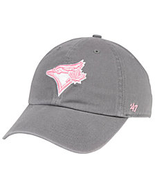 '47 Brand Toronto Blue Jays Dark Gray Pink CLEAN UP Cap