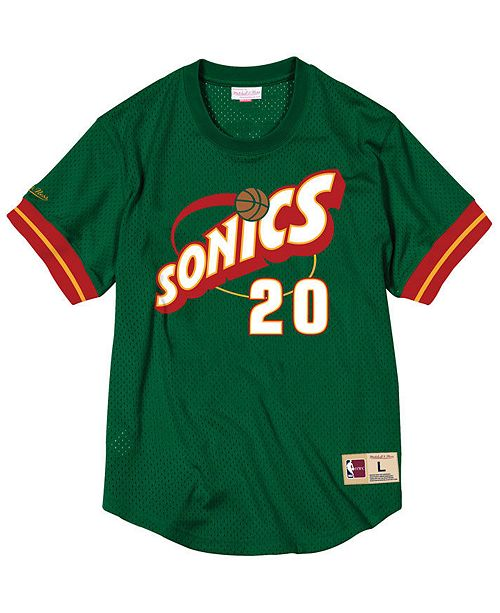 d078aafa8d0 ... closeout mitchell ness. mens gary payton seattle supersonics name and  number mesh crewneck jersey.