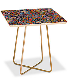 Deny Designs Iveta Abolina Flower Power Square Side Table