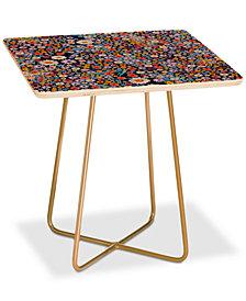 Deny Designs Iveta Abolina Flower Power Square Side Table