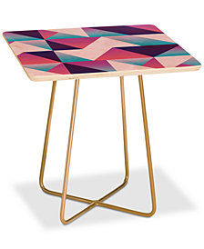 Deny Designs Lara Kulpa Geo Holo Square Side Table