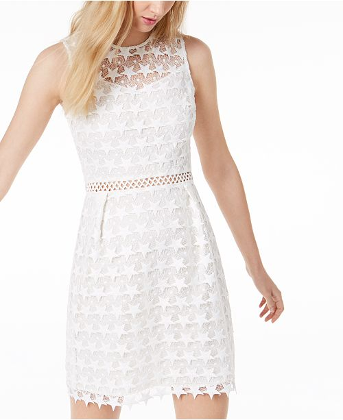 ff26ab044d272 ... Maison Jules Star-Pattern Lace Fit & Flare Dress, Created for Macy's ...