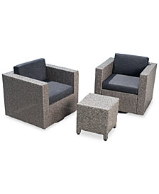 Jenner 3-Pc. Outdoor Chat Set, Quick Ship