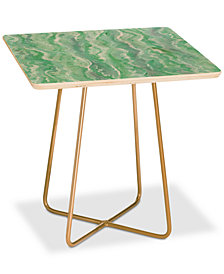 Deny Designs Lisa Argyropoulos Minty Melt Square Side Table
