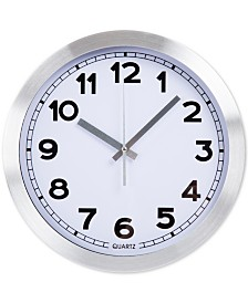 """Everyday Home 12"""" Brushed Aluminum Wall Clock"""