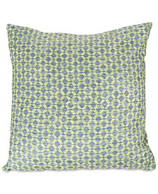 "Modern Geometric Textured Diamond 18"" Decorative Throw Pillow"