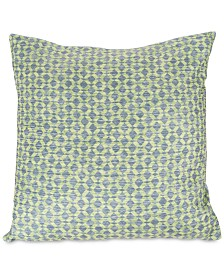 "Modern Geometric Textured Diamond 18"" Decorative Throw Pillow"
