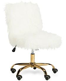 Hanna Faux Fur Office Chair, Quick Ship
