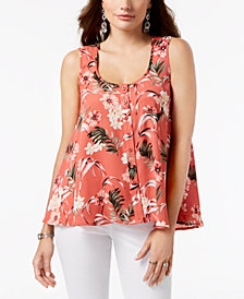 Style & Co Petite Printed Swing Shirt, Created for Macy's