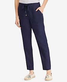 Lauren Ralph Lauren Straight Linen Pants