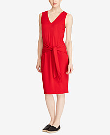 Lauren Ralph Lauren Tie-Front Dress