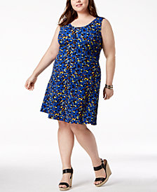 Fox & Royal Trendy Plus Size Printed A-Line Dress