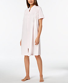 Miss Elaine Embroidered-Trim Robe