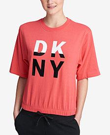 DKNY Sport Logo Cropped Sweatshirt