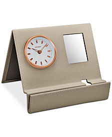 Citizen Workplace Beige Leather Desk Clock