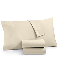 Martha Stewart Collection Organic 4-Pc Queen Sheet Set, 300 Thread Count GOTS Certified, Created for Macy's
