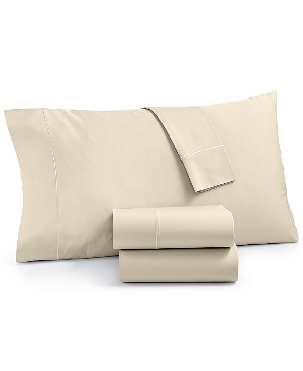 Martha Stewart Collection Organic 4-Pc. King Sheet Set, 300 Thread Count GOTS Certified, Created for Macy's