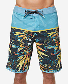 "O'Neill Men's Hyperfreak Ruins Colorblocked Tropical-Print 20"" Board Shorts"