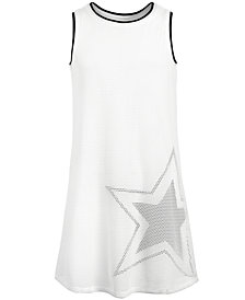 Ideology Big Girls Plus Graphic-Print Mesh Tank Dress, Created for Macy's