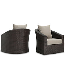 Malibu Outdoor Club Chair (Set of 2), Quick Ship
