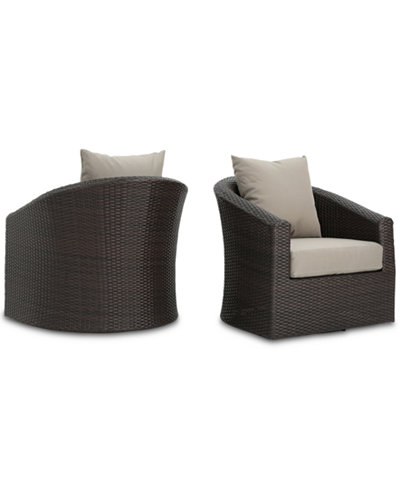 Malibu Outdoor Club Chair Set Of 2 Quick Ship