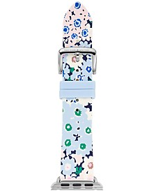 kate spade new york Women's Multicolored Floral Silicone Apple Watch® Strap