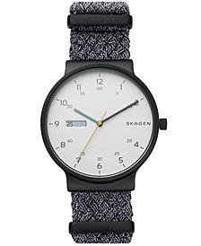 Skagen Men's Ancher Gray NATO Nylon Strap Watch 40mm