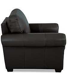 "Orid 36"" Leather Armchair, Created for Macy's"