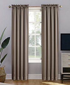 "CLOSEOUT! Sun Zero Oslo 52"" x 84"" Theater Grade 100% Blackout Rod Pocket Curtain Panel"