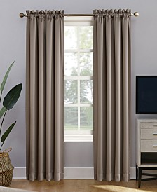 Sun Zero Oslo Rod Pocket Theater Grade 100% Blackout Curtain Panels