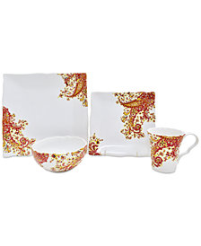 222 Fifth Surya Saffron 16-Pc. Dinnerware Set, Service for 4