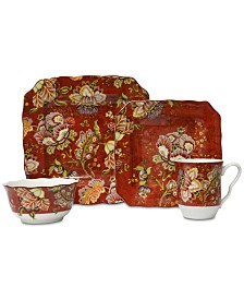 222 Fifth Gabrielle Red 16-Pc. Dinnerware Set, Service for 4