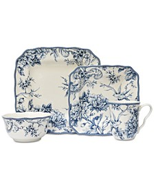 Adelaide Blue 16-Pc. Dinnerware Set, Service for 4