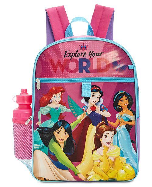 ... Disney Princesses 5-Pc. Backpack   Accessories Set