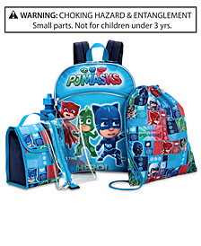Disney Juniors® PJ Masks Little & Big Boys 5-Pc. Backpack & Accessories Set