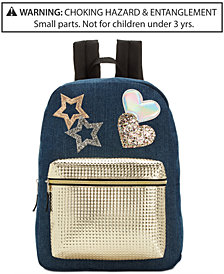 Global Design Concepts Denim Star Backpack, Little & Big Girls