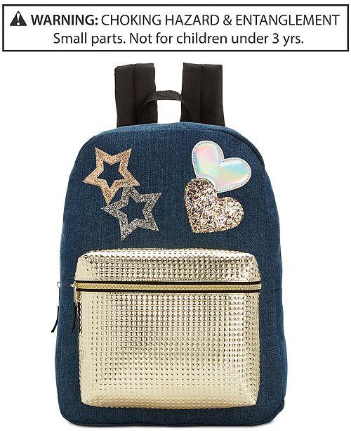 Global Design Concepts Denim Star Backpack, Little & Big Girls