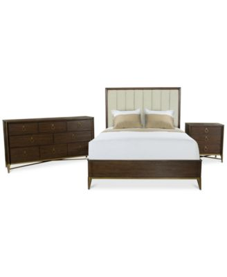 Ethan Upholstered Bedroom Furniture, 3-Pc. Set (Full Bed, Nightstand & Dresser), Created for Macy's