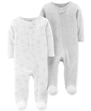 Carters Baby Boys or Girls 2Pack Cotton Coveralls