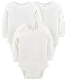 Carter's Baby Boys & Baby Girls 3-Pk. Cotton Bodysuits