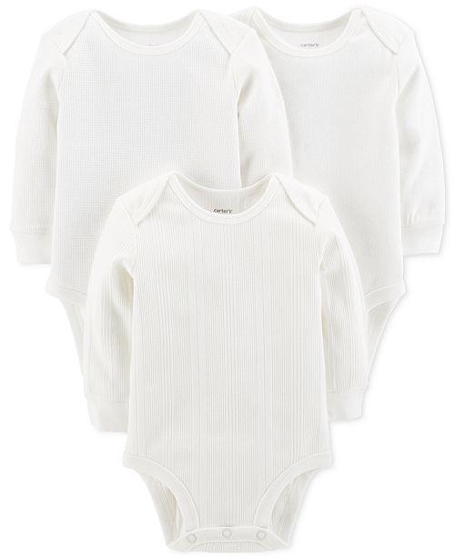 Carter's Baby Boys & Baby Girls 3-Pk. Cotton Bodysuits