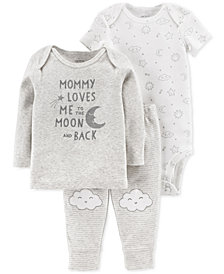 Carter's Baby Boys or Girls 3-Pc. Top, Bodysuit & Pants Set