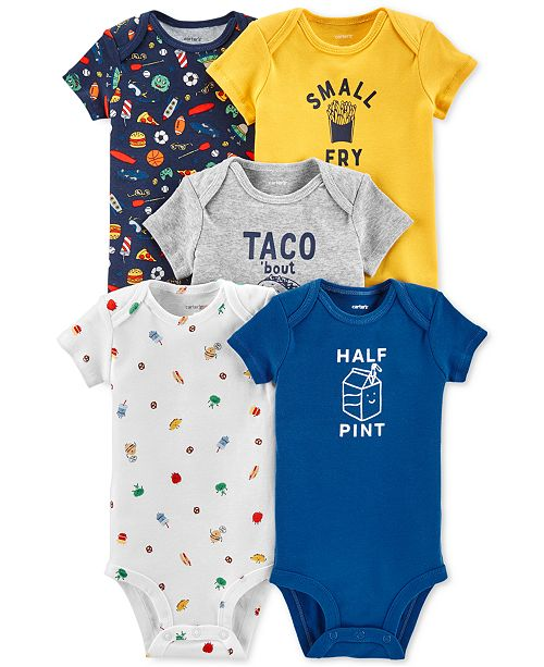 af2522f05 Carter s Baby Boys 5-Pack Printed Cotton Bodysuits   Reviews - All ...