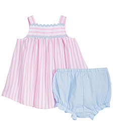Marmellata Baby Girls 2-Pc. Striped Tank Dress & Diaper Cover Set