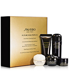 Receive a 5 pc FSLX gift with your $300 Shiseido purchase! A $110 Value!