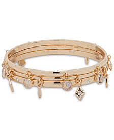 Anne Klein Gold-Tone 2-Pc. Set Charm Bangle Bracelets