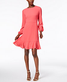 Jessica Howard Ruffle-Back Flounce Dress
