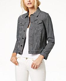 Calvin Klein Jeans Cotton Striped Trucker Jacket