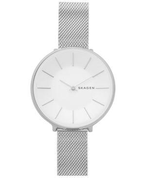 SKAGEN Women'S Karolina Stainless Steel Mesh Bracelet Watch 38Mm in Silver